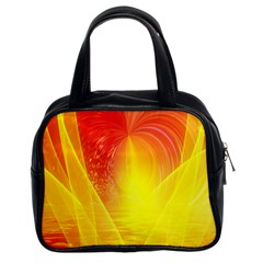 Realm Of Dreams Light Effect Abstract Background Classic Handbags (2 Sides) by Simbadda