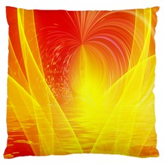Realm Of Dreams Light Effect Abstract Background Large Cushion Case (two Sides) by Simbadda