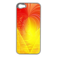 Realm Of Dreams Light Effect Abstract Background Apple Iphone 5 Case (silver) by Simbadda