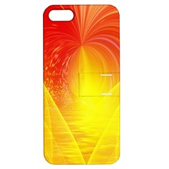 Realm Of Dreams Light Effect Abstract Background Apple Iphone 5 Hardshell Case With Stand by Simbadda