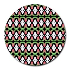 Abstract Pinocchio Journey Nose Booger Pattern Round Mousepads by Simbadda