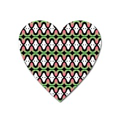 Abstract Pinocchio Journey Nose Booger Pattern Heart Magnet by Simbadda