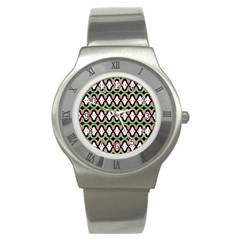 Abstract Pinocchio Journey Nose Booger Pattern Stainless Steel Watch by Simbadda