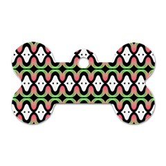 Abstract Pinocchio Journey Nose Booger Pattern Dog Tag Bone (two Sides) by Simbadda