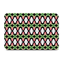 Abstract Pinocchio Journey Nose Booger Pattern Plate Mats by Simbadda