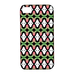 Abstract Pinocchio Journey Nose Booger Pattern Apple Iphone 4/4s Hardshell Case With Stand by Simbadda