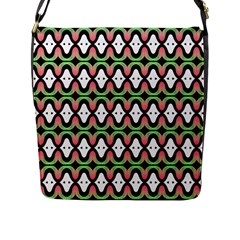 Abstract Pinocchio Journey Nose Booger Pattern Flap Messenger Bag (l)  by Simbadda