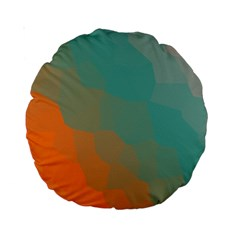Abstract Elegant Background Pattern Standard 15  Premium Round Cushions by Simbadda