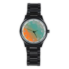 Abstract Elegant Background Pattern Stainless Steel Round Watch