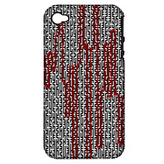 Abstract Geometry Machinery Wire Apple Iphone 4/4s Hardshell Case (pc+silicone) by Simbadda