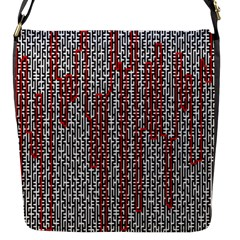 Abstract Geometry Machinery Wire Flap Messenger Bag (s) by Simbadda