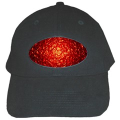 Abstract Red Lava Effect Black Cap by Simbadda