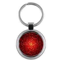 Abstract Red Lava Effect Key Chains (round)  by Simbadda