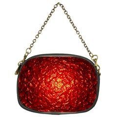 Abstract Red Lava Effect Chain Purses (one Side)  by Simbadda