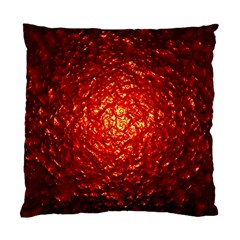 Abstract Red Lava Effect Standard Cushion Case (two Sides) by Simbadda