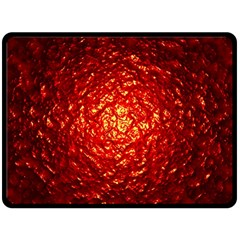 Abstract Red Lava Effect Fleece Blanket (large)  by Simbadda
