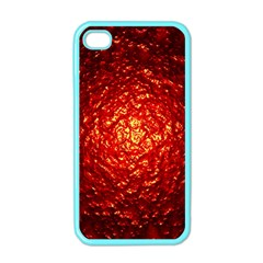 Abstract Red Lava Effect Apple Iphone 4 Case (color) by Simbadda