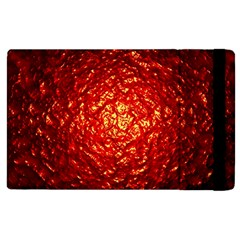 Abstract Red Lava Effect Apple Ipad 2 Flip Case by Simbadda
