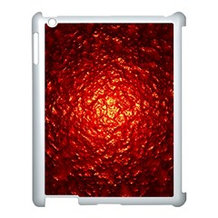 Abstract Red Lava Effect Apple Ipad 3/4 Case (white) by Simbadda