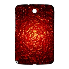 Abstract Red Lava Effect Samsung Galaxy Note 8 0 N5100 Hardshell Case  by Simbadda