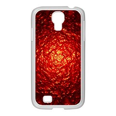 Abstract Red Lava Effect Samsung Galaxy S4 I9500/ I9505 Case (white) by Simbadda