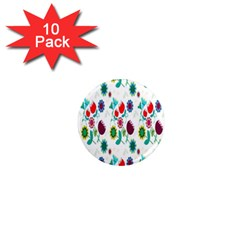 Lindas Flores Colorful Flower Pattern 1  Mini Magnet (10 Pack)  by Simbadda