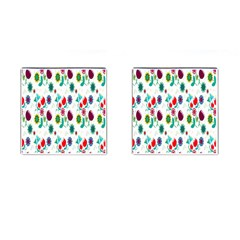 Lindas Flores Colorful Flower Pattern Cufflinks (square) by Simbadda