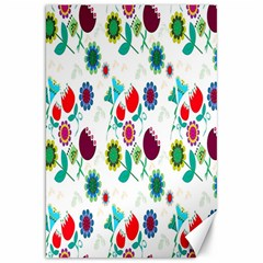 Lindas Flores Colorful Flower Pattern Canvas 20  X 30   by Simbadda