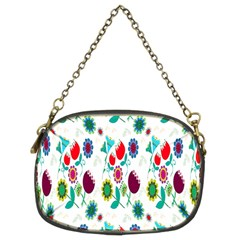 Lindas Flores Colorful Flower Pattern Chain Purses (two Sides)  by Simbadda