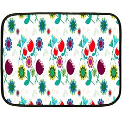 Lindas Flores Colorful Flower Pattern Double Sided Fleece Blanket (mini)  by Simbadda