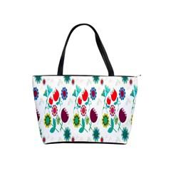Lindas Flores Colorful Flower Pattern Shoulder Handbags by Simbadda