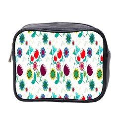 Lindas Flores Colorful Flower Pattern Mini Toiletries Bag 2 Side by Simbadda