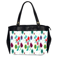 Lindas Flores Colorful Flower Pattern Office Handbags (2 Sides)  by Simbadda