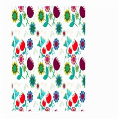 Lindas Flores Colorful Flower Pattern Large Garden Flag (two Sides) by Simbadda