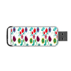 Lindas Flores Colorful Flower Pattern Portable Usb Flash (two Sides) by Simbadda