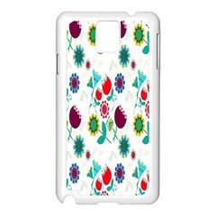 Lindas Flores Colorful Flower Pattern Samsung Galaxy Note 3 N9005 Case (white) by Simbadda