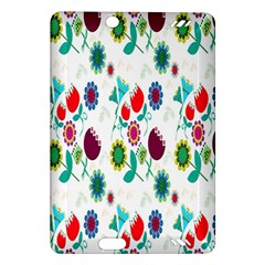 Lindas Flores Colorful Flower Pattern Amazon Kindle Fire Hd (2013) Hardshell Case by Simbadda