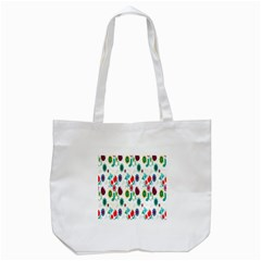 Lindas Flores Colorful Flower Pattern Tote Bag (white) by Simbadda