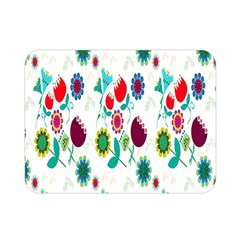 Lindas Flores Colorful Flower Pattern Double Sided Flano Blanket (mini)