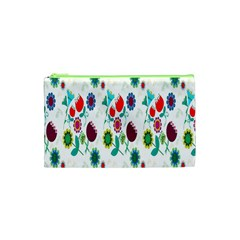 Lindas Flores Colorful Flower Pattern Cosmetic Bag (xs) by Simbadda