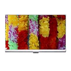 Colorful Hawaiian Lei Flowers Business Card Holders by Simbadda