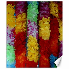 Colorful Hawaiian Lei Flowers Canvas 8  X 10  by Simbadda