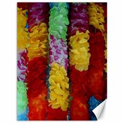 Colorful Hawaiian Lei Flowers Canvas 36  X 48   by Simbadda