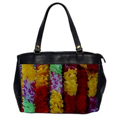 Colorful Hawaiian Lei Flowers Office Handbags by Simbadda