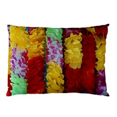 Colorful Hawaiian Lei Flowers Pillow Case (two Sides) by Simbadda