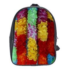Colorful Hawaiian Lei Flowers School Bags (xl)  by Simbadda