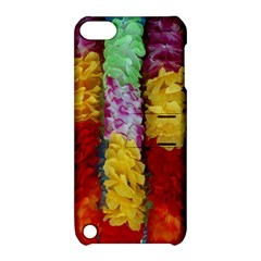Colorful Hawaiian Lei Flowers Apple Ipod Touch 5 Hardshell Case With Stand by Simbadda