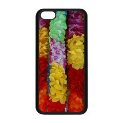 Colorful Hawaiian Lei Flowers Apple Iphone 5c Seamless Case (black) by Simbadda