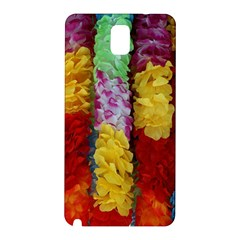 Colorful Hawaiian Lei Flowers Samsung Galaxy Note 3 N9005 Hardshell Back Case by Simbadda