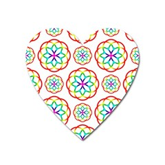 Geometric Circles Seamless Rainbow Colors Geometric Circles Seamless Pattern On White Background Heart Magnet